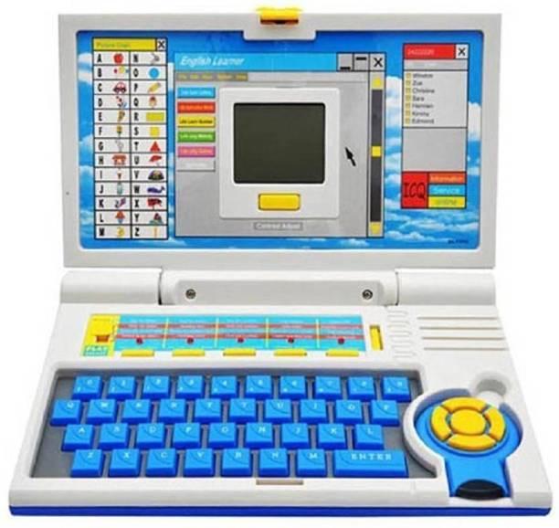 KRISHNA English Learner Educational Notebook / Laptop Toys For Kids (Blue)