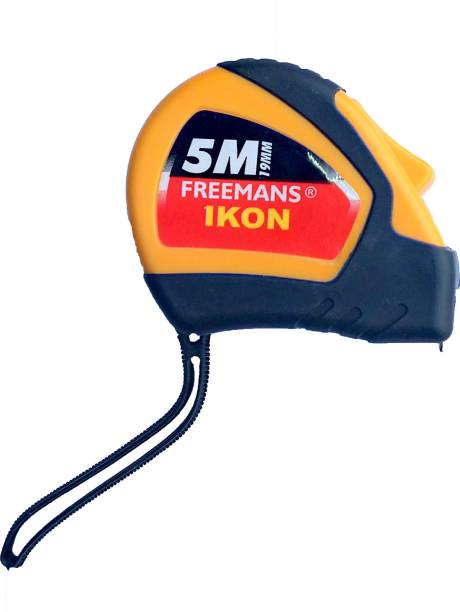 FREEMANS 5m ikon tape heavy duty rubber grip switch model Measurement Tape