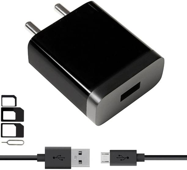 ShopsGeniune Wall Charger Accessory Combo for Samsung, Motorola, Sony, HTC, Nexus, LG, Microsoft, Nokia, OPPO, GIONEE, Blackberry, Lenovo, Honor, Asus, Huawei, VIVO, Xiaomi, Google, Panasonic, Micromax, Coolpad, XOLO, Lava, Celkon, Karbonn, ZTE, Iball, Swipe, Toshiba, Alcatel, Meizu, Yu, Galaxy S7 / S6 / Edge / Plus, Note 5 / 4, LG, Nexus, HTC, Motorola Moto G4 /G4 Plus ,Xiaomi Mi /Redmi Note 3/4/4s Android, tablets, power banks, bluetooth speakers, camera Charger With 1 Meter Micro USB Charging Data Cable And SIM Adapter
