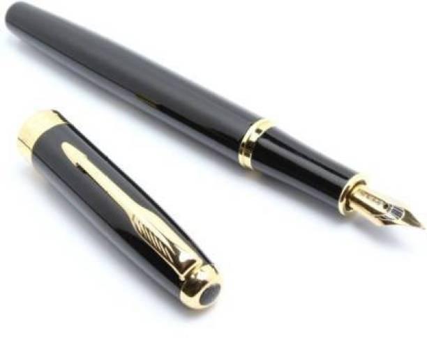 loushi IZONE NEW BAOER 388 FOUNTAIN PEN BLACK NOBLEST GOLDEN MEDIUM NIB NEW Fountain Pen Fountain Pen