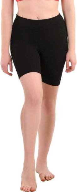 Apraa & Parma Solid Women Black Cycling Shorts