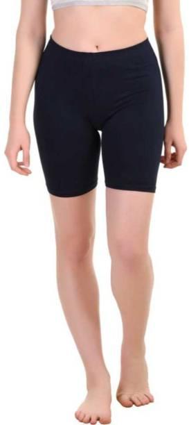 Apraa & Parma Solid Women Blue Sports Shorts