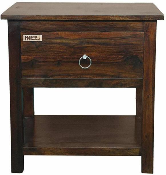 Meera Handicraft Sheesham Wood Solid Wood Bedside Table