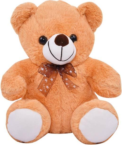 Smartcraft Plush Teddy Soft Toy, Spongy Teddy Bear Soft Toy Gifts, Brown  - 24 cm