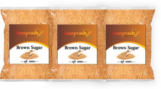 ANNPRASH Premium Quality Brown Sugar - 500gm (Pack of 3) Sugar
