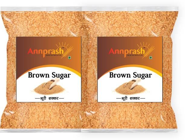 ANNPRASH Premium Quality Brown Sugar - 500gm (Pack of 2) Sugar
