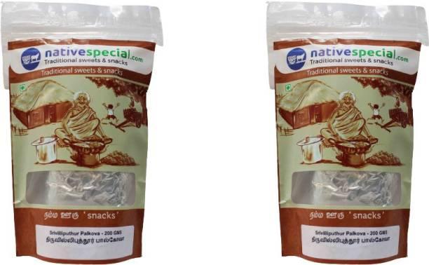 nativespecial.com Srivilliputhur Famous Native palkova , Milk Khova , (200 g X 200 g) - pack of 2 -( 400 g) Pouch