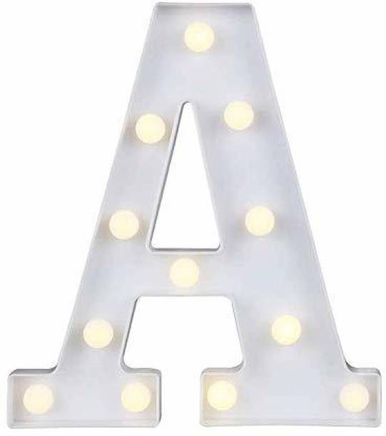 Satyam Kraft Marquee Alphabet Shaped Led Light (A) Pack of 1. Night Lamp