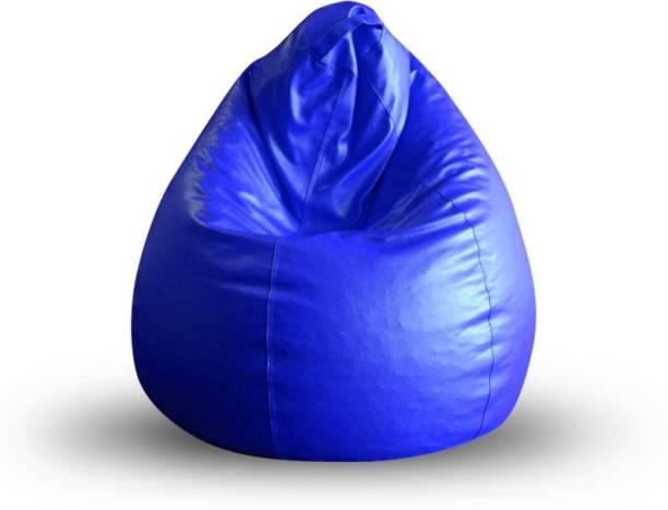 STYLE HOMEZ SHBBCLXLBLUEFL Leatherette XL Teardrop Kid Bean Bag
