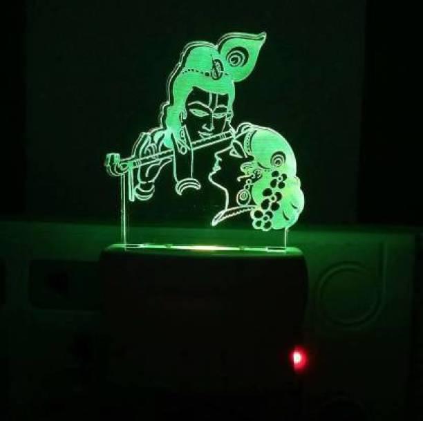 DONICY Radha Krishna Night Lamp Night Lamp (10 cm, Multicolor) Bike Handlebar Weights