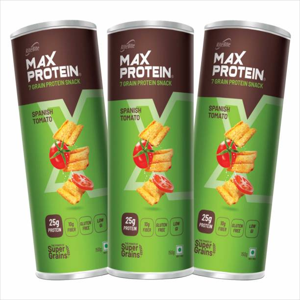 RiteBite Max Protein Chips - Spanish Tomato 150g(Pack of 3) Chips