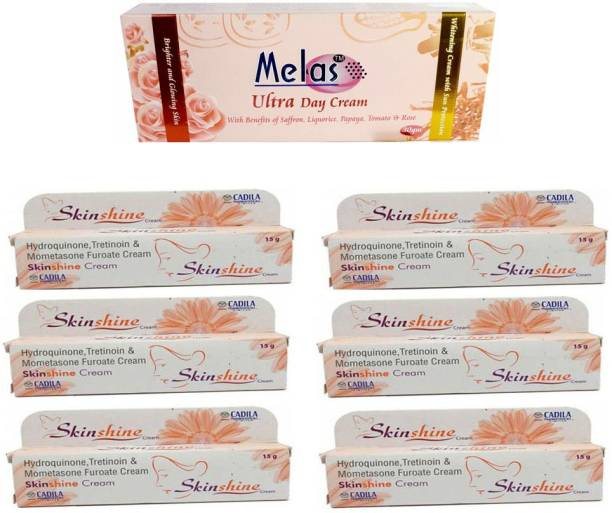 Melas ultra day cream 30 gm with 6 skin shine cream (pack of 7)