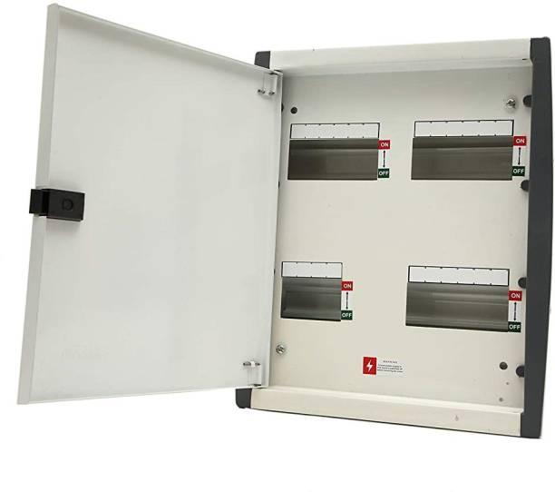 Suntech Industries TPN SPN Metal Double Door Distribution Board MCB Box (4 Way TPN) Distribution Board