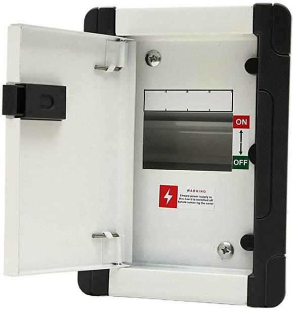 Suntech Industries 4 Way SPN Metal Double Door Distribution Board MCB Box Distribution Board