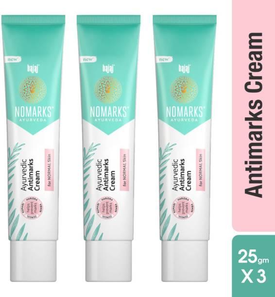 BAJAJ Nomarks Ayurvedic Antimarks Cream For Normal Skin (25g x 3), Pack of 3
