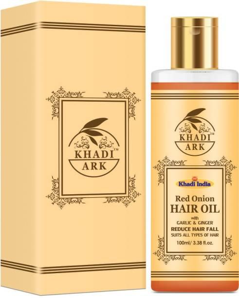Khadi Ark Red Onion Hair oil with Garlic & Ginger Reduce Hair Fall & Hair Growth Hair Oil