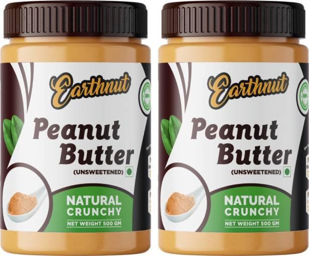 Earthnut Peanut Butter Combo Crunchy (500g + 500g) 1 kg