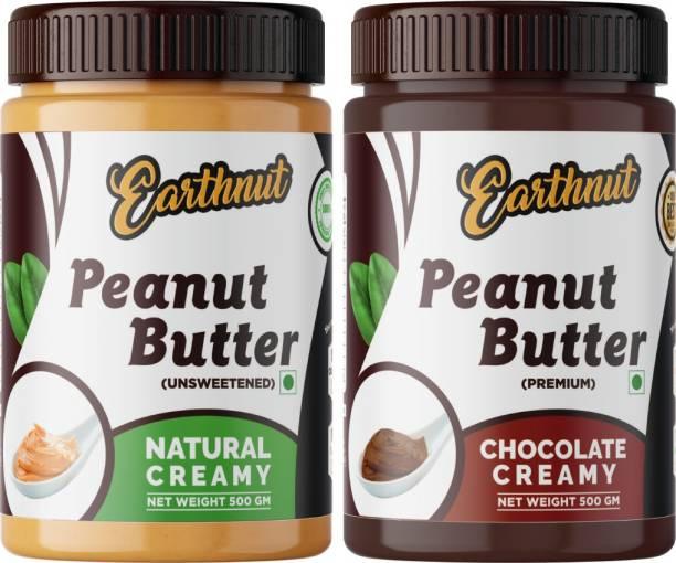 Earthnut Peanut Butter Combo Creamy Chocolate (500g + 500g) 1 kg