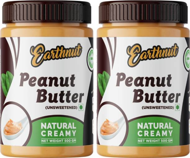 Earthnut Peanut Butter Combo Creamy (500g + 500g) 1 kg