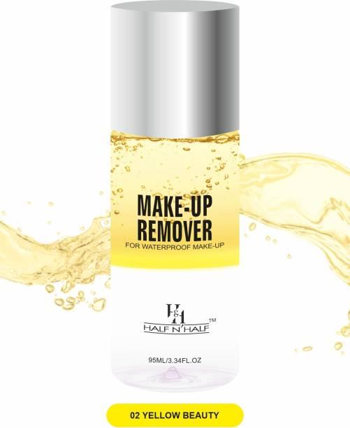 Half N Half Makeup Remover For Waterproof Makeup MR-01-02 Yellow Beauty Makeup Remover