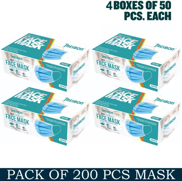 Tresbon Anti Pollution, Anti Virus ,Breathable 3 PLY Mask Surgical Mask