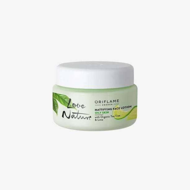 Oriflame LOVE NATURE MATTIFYING FACE LOTION WITH ORGANIC TEA TREE & LIME CREAM