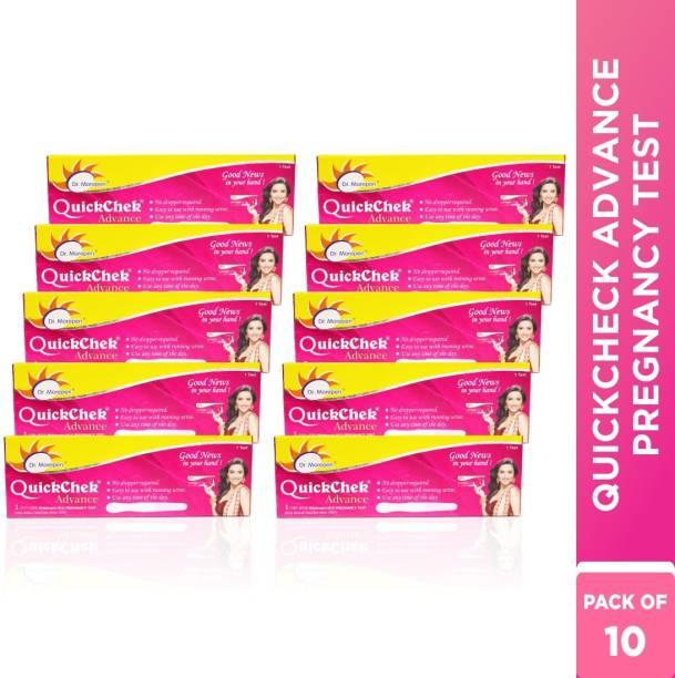Dr. Morepen Quickchek Advance Pregnancy Test Kit - No Dropper Required, Pack Of 10 Digital Pregnancy Test Kit