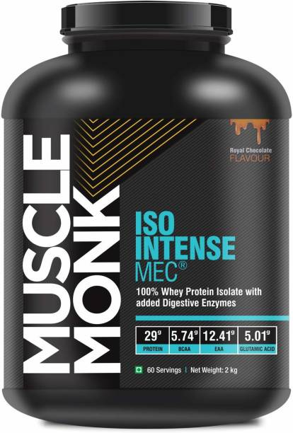 MuscleMonk ISO Intense MEC Whey Isolate Protein with Digestive Enzymes Royal Chocolate - 2kg Whey Protein