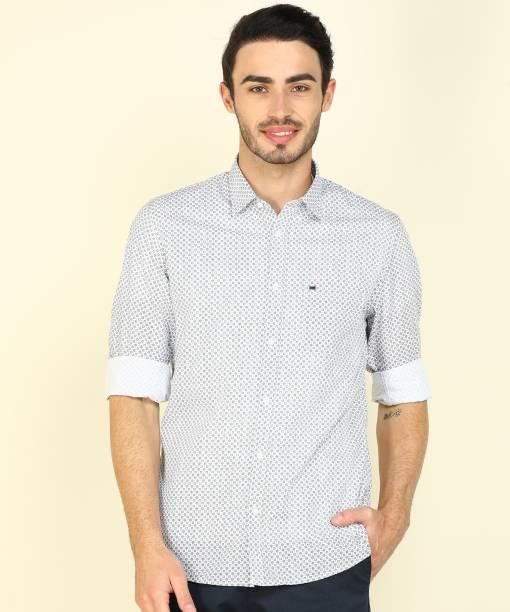 PETER ENGLAND Men Printed Casual White Shirt