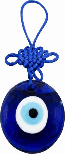 Prabhu Bhakti Blue Evil Eye Hanging I Evil Eye Hanging Best for Home and Office I Standard Size Decorative Showpiece  -  5 cm