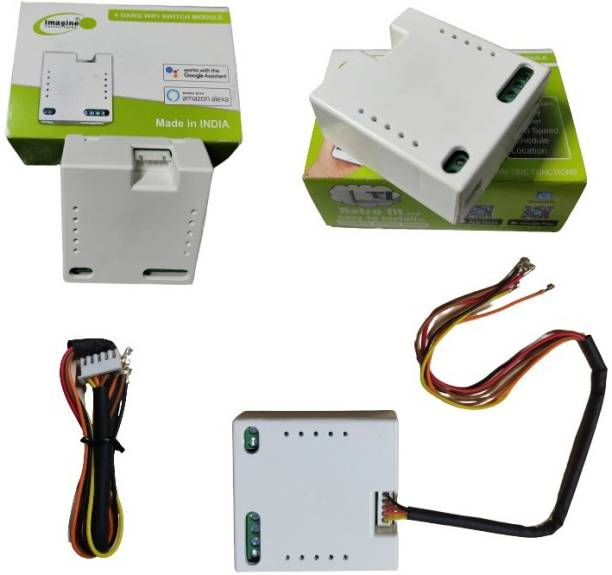 Imagine Technologies 4 Gang Smart WiFi Switch   Retro Fit with Manual Control   No Hub Required   Working Online and Offline Smart Switch