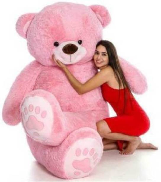 vtb retail stuffed toys 4 feet pink teddy bear / high quality / love teddy For girls valentine & Anniversary gift / cute and soft teddy bear -122 cm (Pink)  - 152 cm