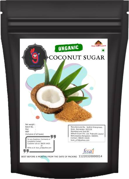 99Auth Unbleached Unrefined Premium High Quality Pure Coconut Sugar 1kg Sugar