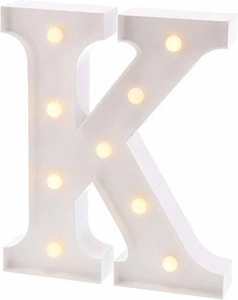 Satyam Kraft Marquee Alphabet Shaped Led Light (K) Pack of 1. Table Lamp