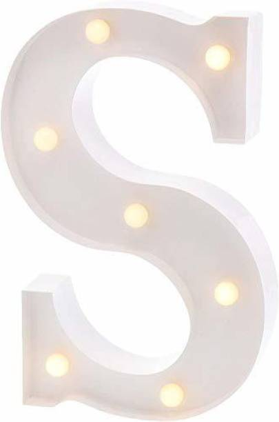 Satyam Kraft Marquee Alphabet Shaped Led Light (S) Pack of 1. Table Lamp