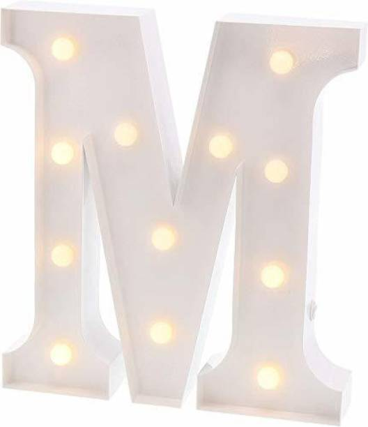 Satyam Kraft Marquee Alphabet Shaped Led Light (M) Pack of 1. Table Lamp