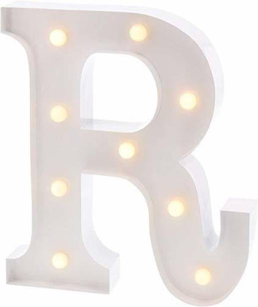 Satyam Kraft Marquee Alphabet Shaped Led Light (R) Pack of 1. Table Lamp