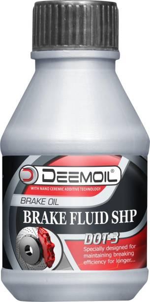 DEEMOIL BRAKE FLUID SHP DOT : 3 (4 X 250 Ml) Pack of 4 Glycol Based Brake Oil