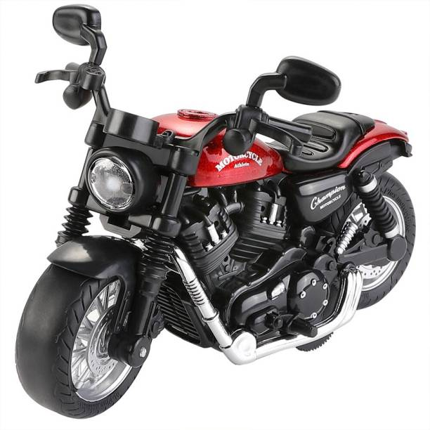 US1984 1:14 Pull Back Metal Die Cast Bike with Light and Sound