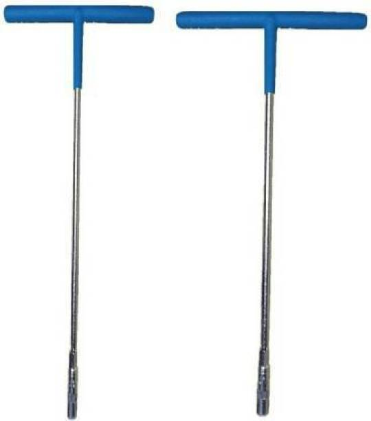 dhriyag 8mm and 10mm T-Shape Single Sided Lug Wrench Single Sided T Type Wrench