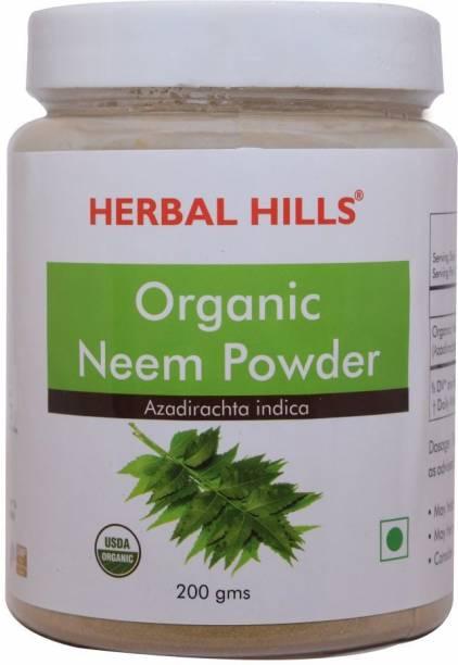 Herbal Hills Organic Neem patra powder -200 gms Blood purifier (Pack of 4)