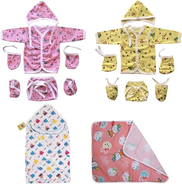 Fareto INFANT CLOTHING 12 IN 1 COMBO SET(MULTICOLOR)