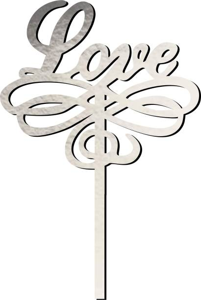 Creatick Studio Love Cake Topper for Special one to celebrate a Special Day With Loved Ones- Valentines Day Special_CTS163 Cake Topper