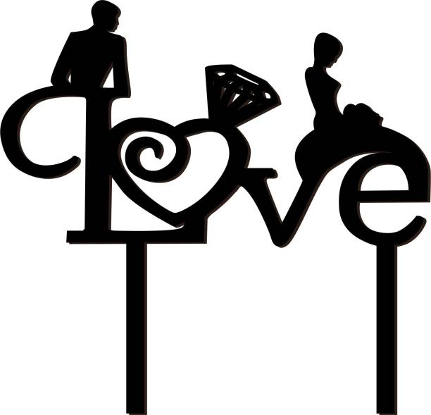 Creatick Studio Love Expressing Cake Topper to celebrate a Special Day With Loved Ones- Valentines Day Special_CTB158 Cake Topper