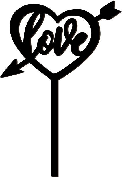 Creatick Studio Love Cake Topper to celebrate a Special Day With Loved Ones- Valentines Day Special_CTB161 Cake Topper