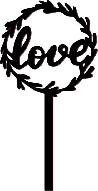Creatick Studio Love Cake Topper for Special one to celebrate a Special Day- Valentines Day Special _CTB168 Cake Topper