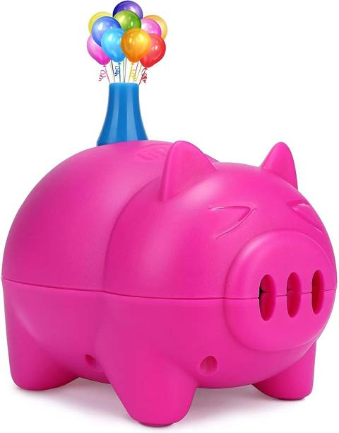 Smartcraft Solid Pig Shape Electric Balloon Pump Portable Balloon Inflator Air Blower with Balloon Arch & Garland Kit for Party Decoration Balloon