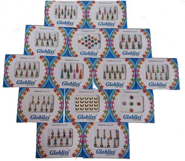 Laddu Gopal 14 Bindi Packs Collection Mix N Match Forehead Face Forehead Colorful bindis Forehead Multicolor Bindis