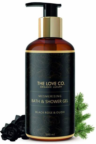 The Love Co. Mesmerising Black Rose and Oudh Foaming Body Wash Shower Gel, No Parabens, Silicones & Color, 100% Vegan | Cleansing and Moisturising Bath Gel | For Men and Women - 300 ml