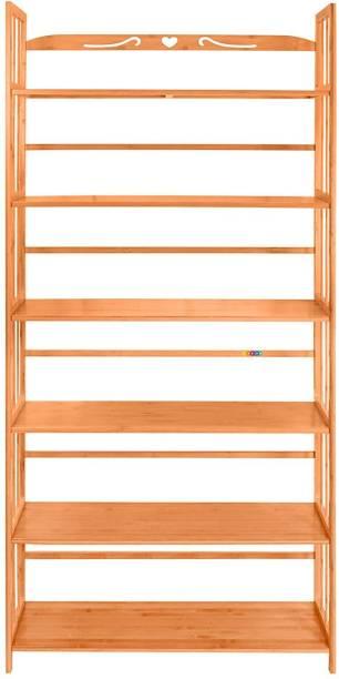 Livzing Solid Wood Open Book Shelf